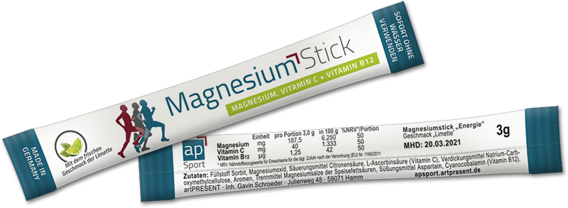 apSport Magnesiumstick 3 g, Maße 100 x 16,5 mm